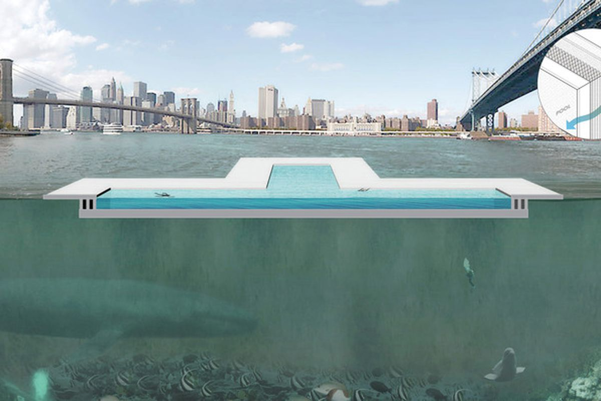Floating Public Pool That Filters New York S East River