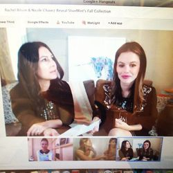 Nicole Chavez and Rachel Bilson chatter with bloggers about all things ShoeMint [Photo via Grasie Mercedes]