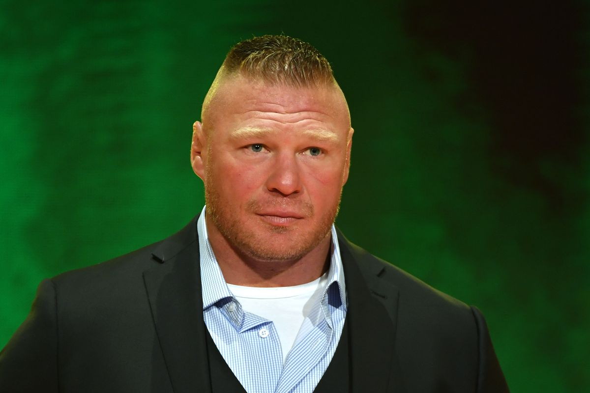 WWE champion Brock Lesnar speaks during a WWE news conference at T-Mobile Arena on October 11, 2019 in Las Vegas, Nevada. Lesnar will face former UFC heavyweight champion Cain Velasquez and WWE wrestler Braun Strowman will take on heavyweight boxer Tyson Fury at the WWE's Crown Jewel event at Fahd International Stadium in Riyadh, Saudi Arabia on October 31.