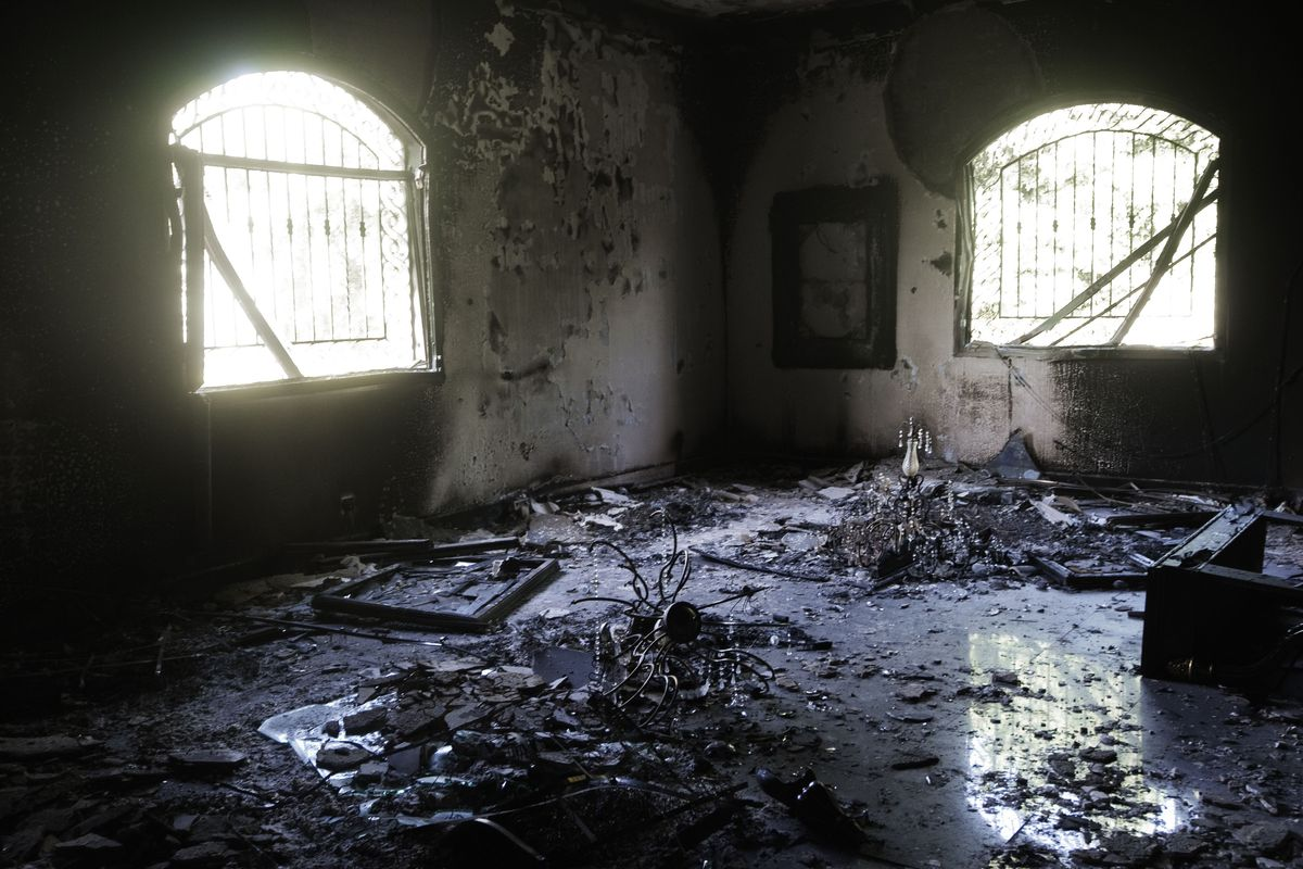 How the US mission in Benghazi looked after the attack.