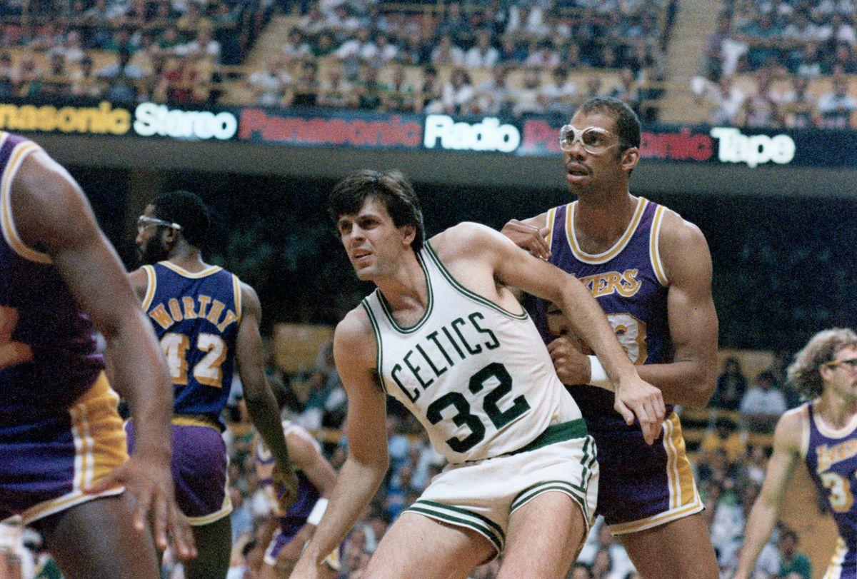 Boston Celtics Kevin McHale And Los Angeles Lakers Kareem Abdul-Jabbar