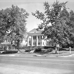 One of the many beautiful mansions on South Temple. Photo was taken on July 7, 1953.