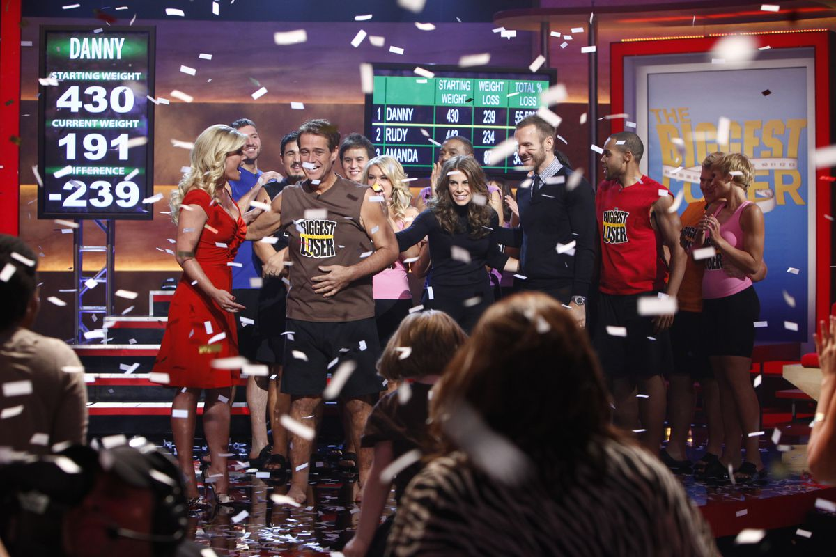The Biggest Loser reality TV show — the season eight finale shown here — turned weight loss into a spectator sport.