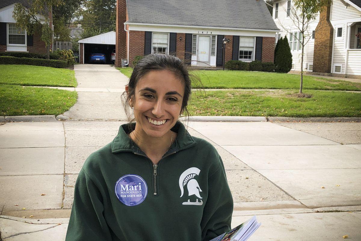 Michigan State House of Representatives candidate Mari Manoogian in Birmingham, Michigan, on October 19, 2018