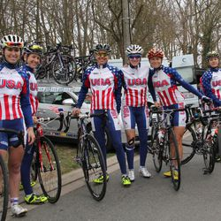 Team USA before the race