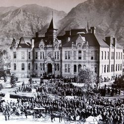 Brigham Young Academy, pictured on Oct. 16, 1900.
