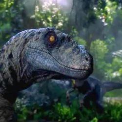 "A velociraptor from ""Jurassic Park."""