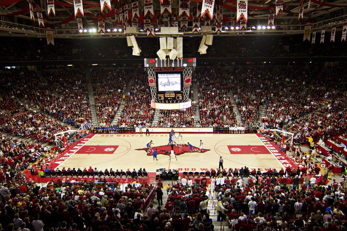 Bud Walton Arena Flooded No Really Arkansas Fight