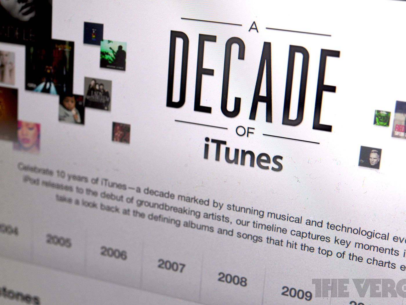 Apple prepares for iTunes' tenth anniversary with timeline of how it  changed music industry - The Verge