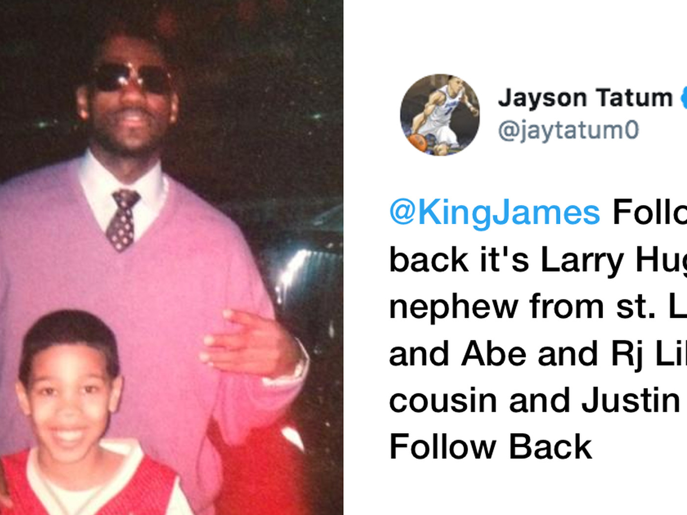 bebd88dbb35e Jayson Tatum tweeted at LeBron James when he was 14. Now they re Eastern  Conference Finals opponents - SBNation.com