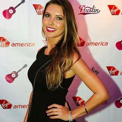 Audrina Partridge arrives at Virgin America's party in Austin to celebrate the inaugural SFO-AUS flight