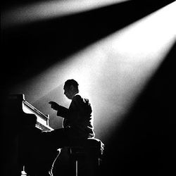 A 1958 photo by Herman Leonard Photography shows jazz great Duke Ellington at the Olympia Theater in Paris. A 1958 photo by Herman Leonard Photography shows jazz great Duke Ellington at the Olympia Theater in Paris.