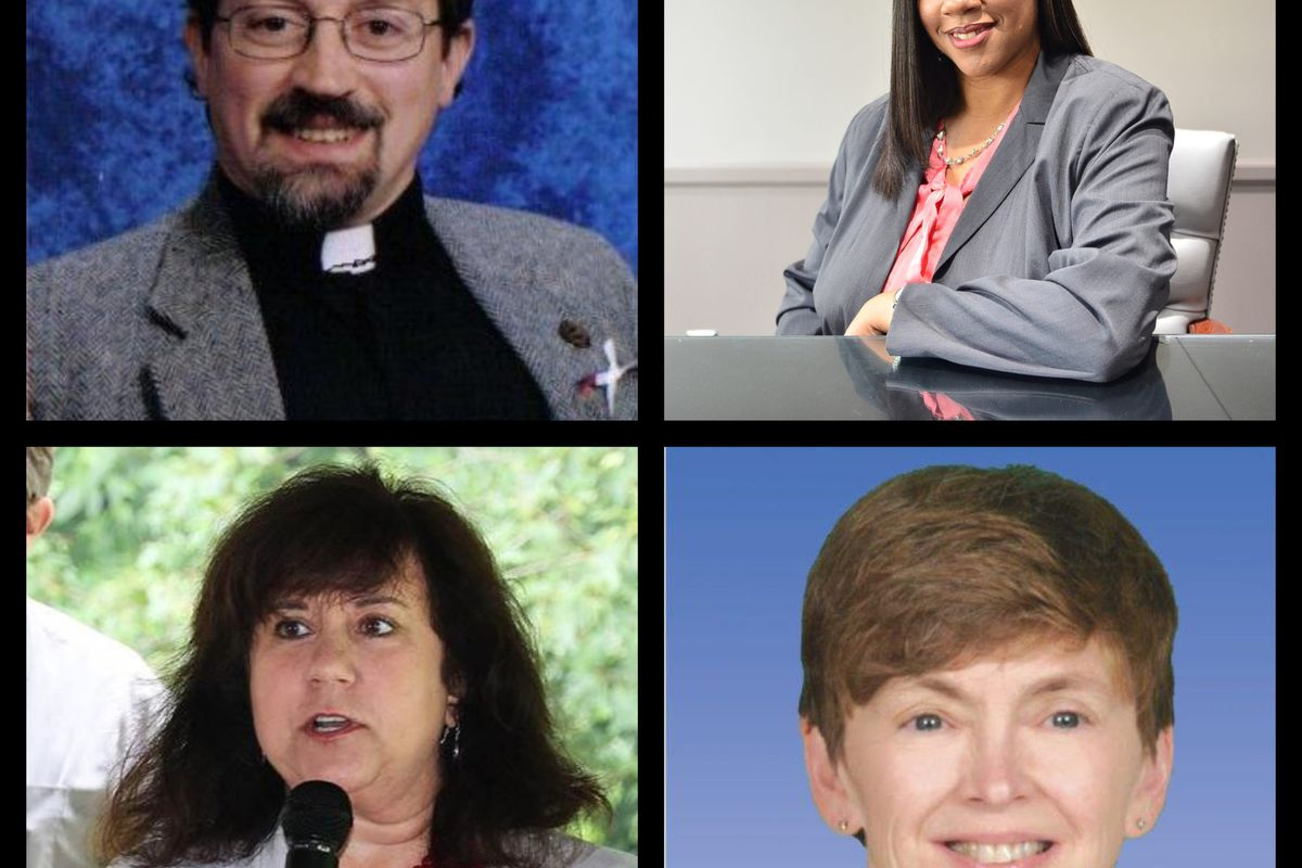 Candidates for state board of education, clockwise from top right: Tiffany Tilley, Judy Pritchett, Tami Carlone, Richard Zeile.