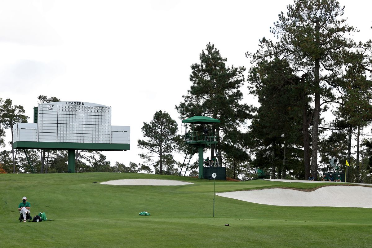 A general view of the third tee during a practice round prior to the Masters at Augusta National Golf Club on November 09, 2020 in Augusta, Georgia.
