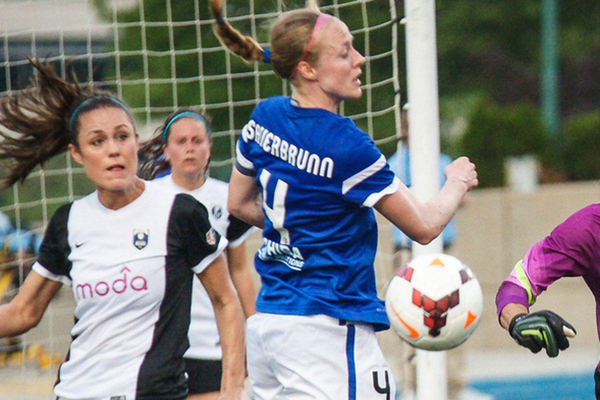 Sauerbrunn is dangerous going forward as well as the leagues best defender