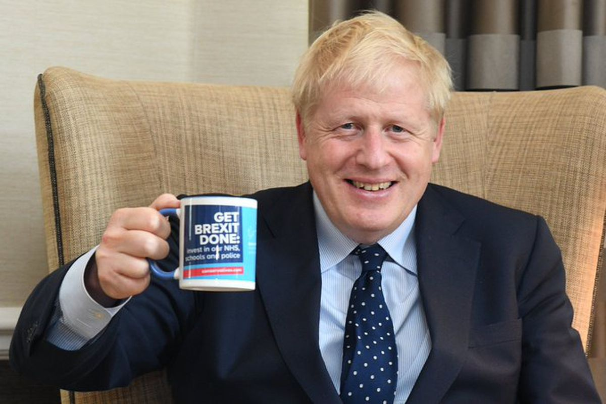 Boris Johnson is not allowed to drink coffee from a disposable cup