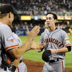 Exhausted Lincecum - Christopher Hanewinckel-USA TODAY Sports