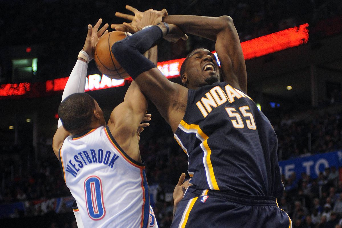 Russell Westbrook and Roy Hibbert