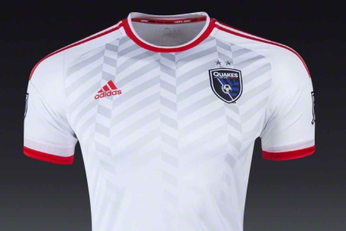An inverse design to the all-red 2014 away jersey
