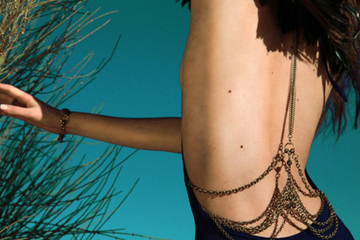 """Haati Chai Sutra body chain, <a href=""""http://haatichai.com/collections/sale/products/sutra-body-chain"""">$180</a> (on sale)"""