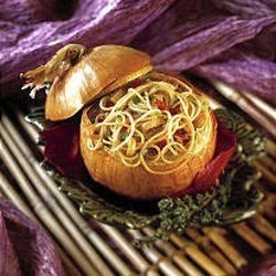 Pasta Stuffed Onion
