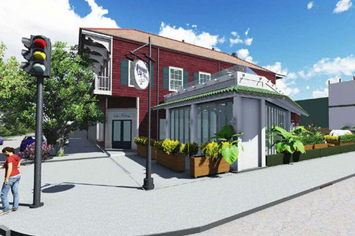 Rendering of Cafe Habana from Rozas Ward Architects