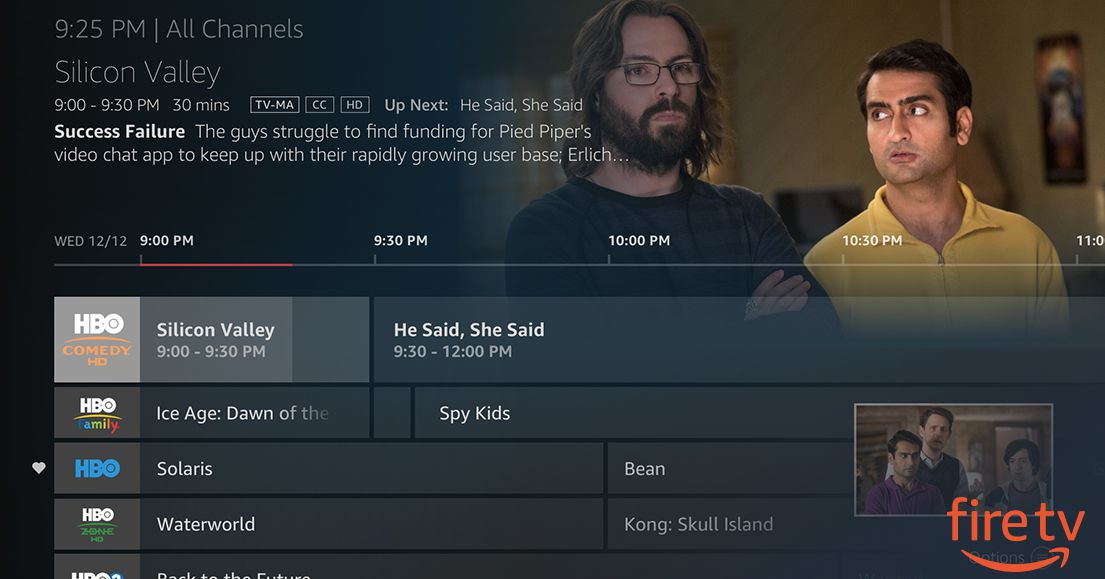 Amazon Adds Limited Live TV Guides to the Fire TV