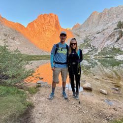 Jared and Kim White during their Mount Whitney hike in California earlier this summer.