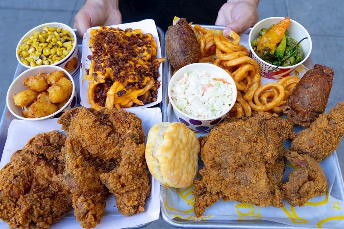 Fried chicken, curly fries, biscuits, and more snacks from TKK Taiwanese Fried Chicken