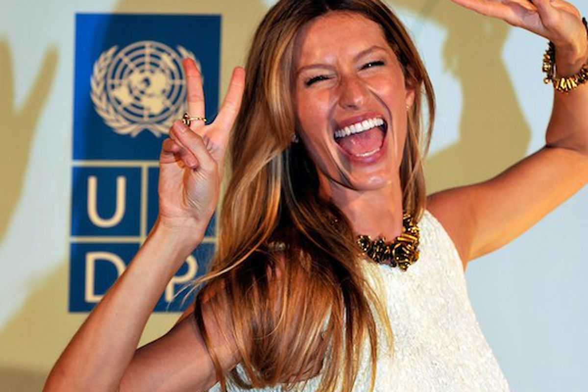 Know why Gisele looks so happy? She made $45 million last year.