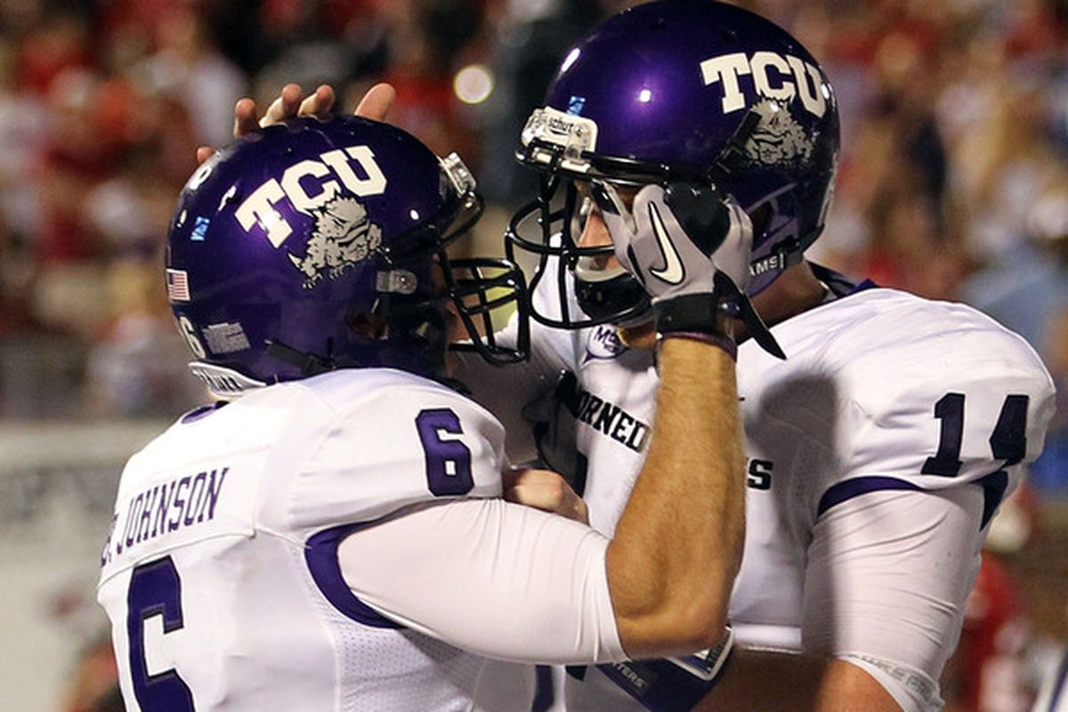 Will the Horned Frogs join the Big East? (Photo by Ronald Martinez/Getty Images)