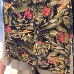 [Men's] AMI Hawaiian print shorts, $113