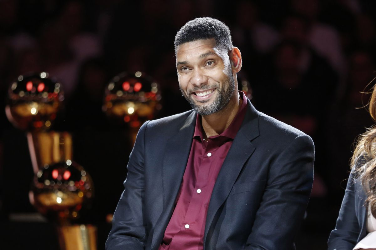 Tim Duncan has his name dropped during the NBA Finals broadcast