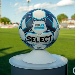 June 25, 2019 - Madison, Wisconsin, United States - The match ball is on display prior to kickoff of the Forward Madison FC vs Minnesota United FC friendly match at Breese Stevens Field.