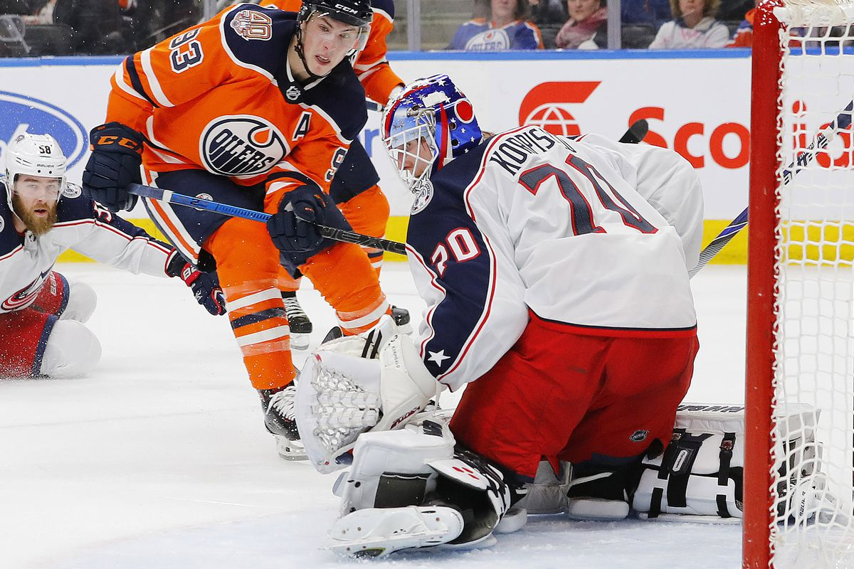 NHL: Columbus Blue Jackets at Edmonton Oilers