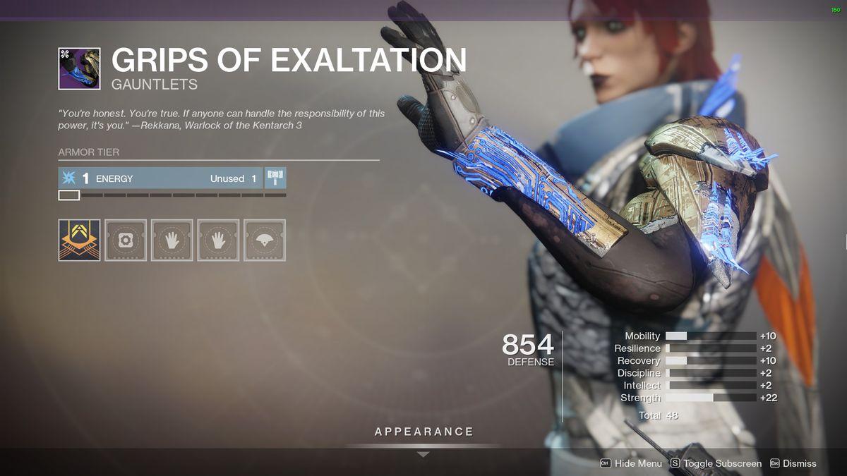 Destiny 2's Grips of Exaltation