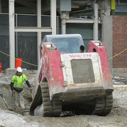 2:46 p.m. Digging deep, in front of Gate R/VIP Gate on Sheffield -