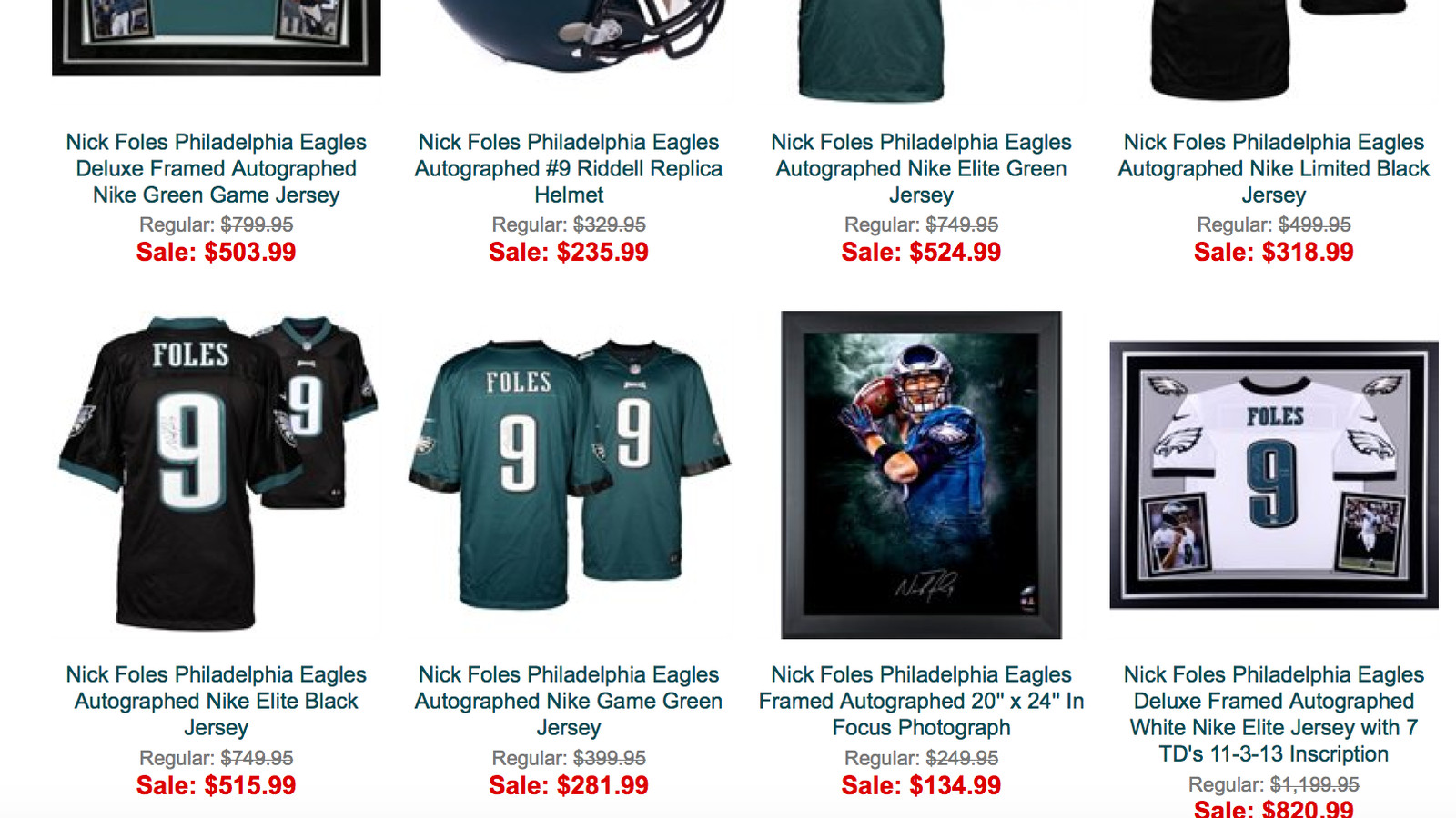 091e2749b23 ... is all Nick Foles autographed merchandise on sale at the Eagles online  store (UPDATE Mens Nike Philadelphia Eagles 9 Nick Foles Elite White NFL  Jersey ...