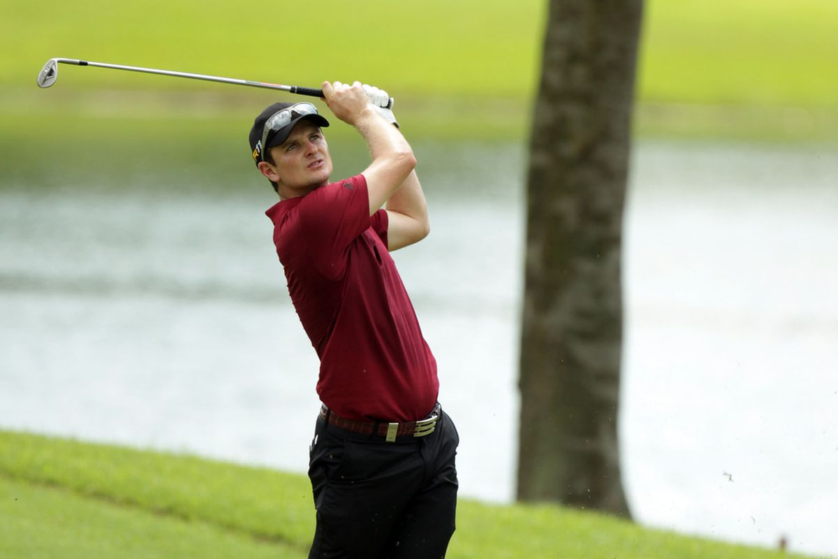 SINGAPORE - NOVEMBER 11:  Justin Rose of England during the second round of the Barclays Singapore Open at the Sentosa Golf Club on November 11, 2011 in Singapore, Singapore.  (Photo by Ross Kinnaird/Getty Images)