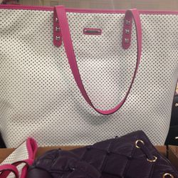Rebecca Minkoff perforated leather tote, $171