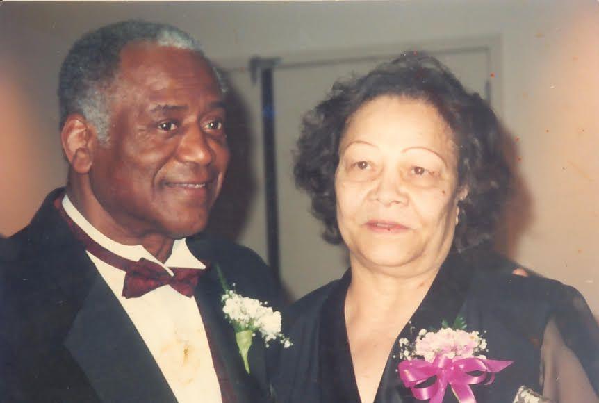 Sam Jordan and wife Bertha Ruth in 1999