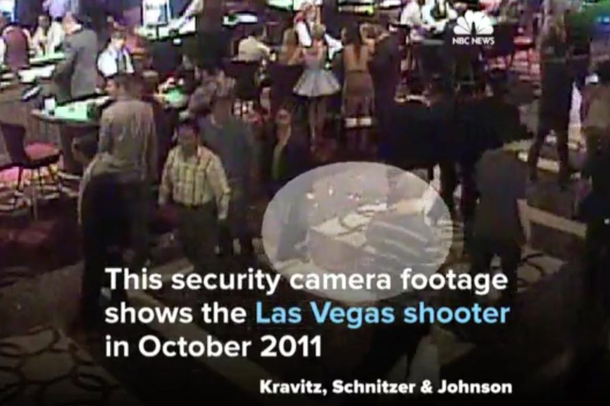 This newly released security footage shows Las Vegas shooter