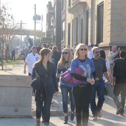 5:17 p.m. Pedestrian traffic on Waveland -