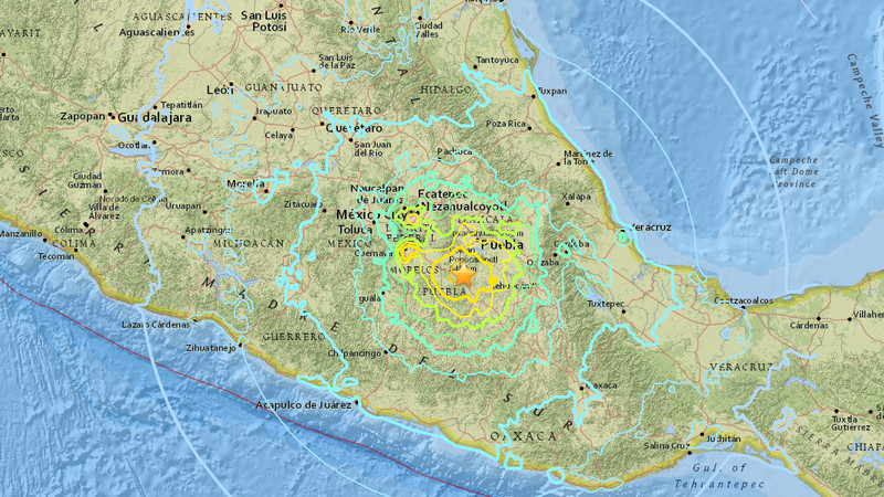 The deadly earthquake that rocked mexico city what we know vox the epicenter of the quake was less than 100 miles away from mexico city usgs gumiabroncs Images