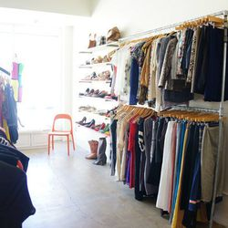 """Finally, end your shopping adventure at designer clothing swap shop <a href=""""http://www.giveplustake.com"""">Give+Take</a> (1740 Ocean Park Blvd). Part fashion community and part consignment store, this is not your average <a href=""""http://la.racked.com/archi"""