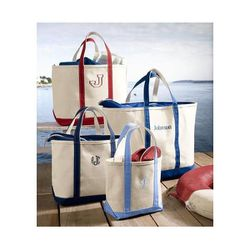 """Boat and Tote Bag with Zip Top, $27.95-45.95 at <a href=""""http://www.llbean.com/llb/shop/37037?feat=677-GN1&page=boat-and-tote-bag-zip-top&attrValue_0=Blue"""">L.L.Bean</A>"""