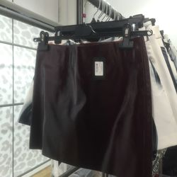 Pleather skirt, $75 (from $415)