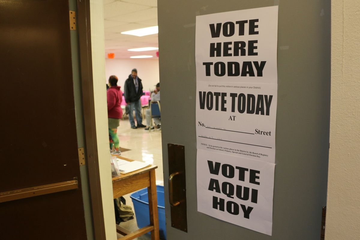 A polling site in Newark's Central Ward on Nov. 6.