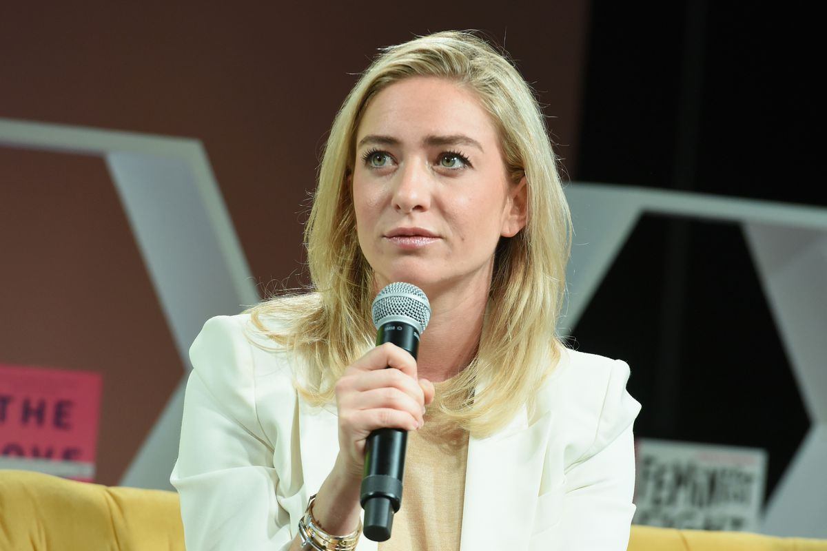 Bumble founder and CEO Whitney Wolfe speaks at an event.