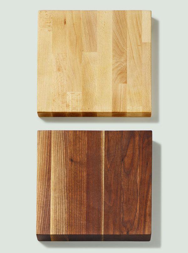 Birch and American Walnut butcher blocks.